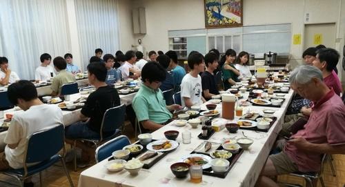 2019合宿食堂にて